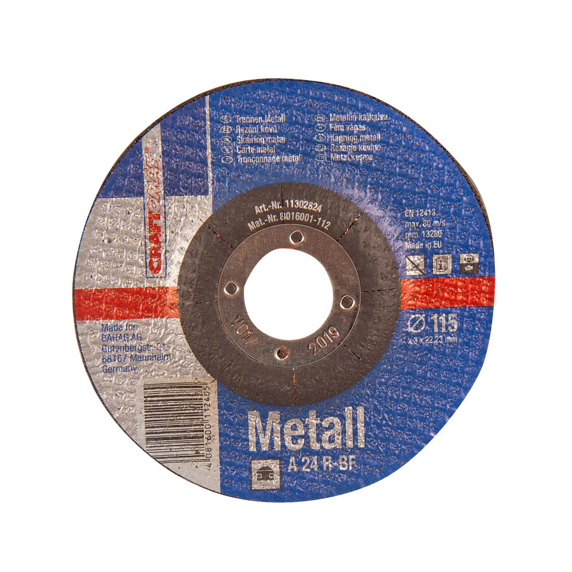 Craftomat Kesici Disk 115 mm Metal Mavi