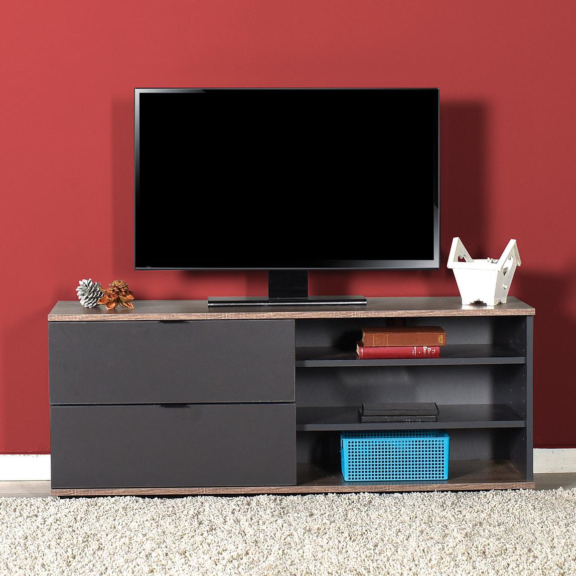 Flat Line 2 Çekmeceli 3 Bölmeli Tv Sehpası
