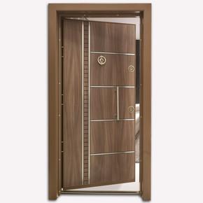 Kromlu Laminoks İnci Serisi Çelik Kapı