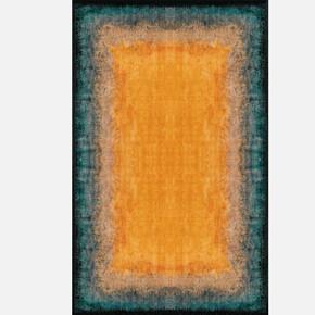 Luna Orange Aqua 155x230 Kilim